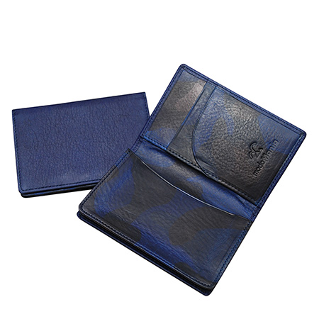 スクモレザー(sukumo leather)藍染の牛革・本革の名刺入れ