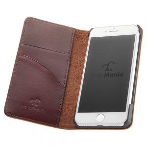手帳型iPhoneケースブランド「modaMania(モーダマニア)」がおすすめする、メンズ向け本革iPhone(アイフォン)ケース。ビジネスシーンでも使いやすい手帳型ケースをまとめてみました。【ノースカロライナ iPhone7 手帳型ケース】