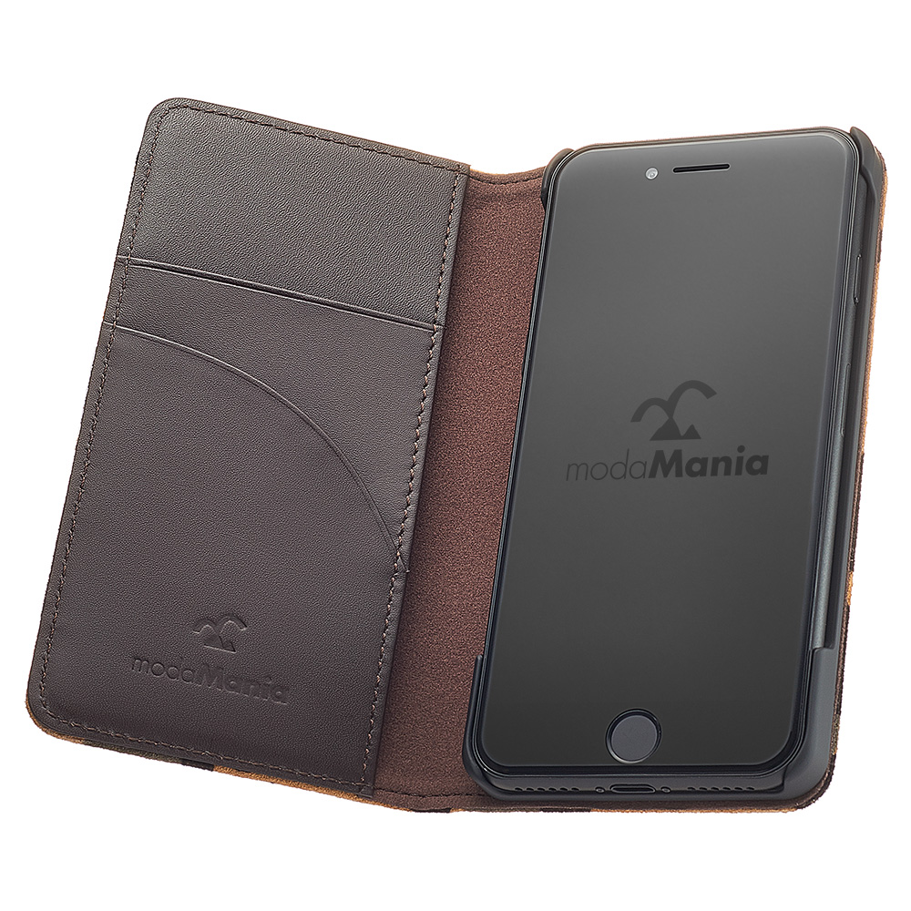 iPhone8対応のおすすめブランド本革アイフォン手帳型ケース(カバー)でおしゃれな『モーダマニア(modaMania):スマウグ iPhone8 手帳型ケース』のご紹介