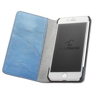 手帳型iPhoneケースブランド「modaMania(モーダマニア)」がおすすめする、メンズ向け本革iPhone(アイフォン)ケース。ビジネスシーンでも使いやすい手帳型ケースをまとめてみました。【ブルックリン iPhone7 手帳型ケース】