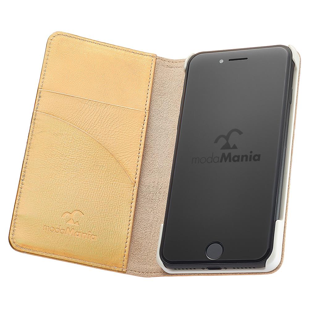 iPhone8対応のおすすめブランドアイフォン手帳型ケース(カバー)『モーダマニア(modaMania):スプリングシー』のご紹介