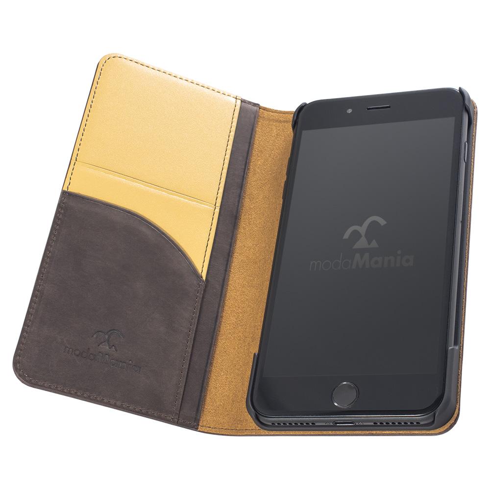 iPhone8 Plus対応のおすすめブランドアイフォン手帳型ケース(カバー)『クレイジーホース』のご紹介