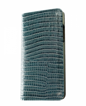 iPhoneX 専用 本革手帳型ケース 蜥蜴丸 / ブルー